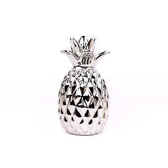 28X16CM SILVER PINEAPPLE HOME RESTAURANT DECORATION ORNAMENT