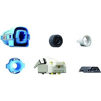 RJ45 CONNECTOR CAT 5 Plug, straight Number of pins: 8P4C Y-CONKIT-21 Light blue Yamaichi Y-CONKIT-21 1 pc(s)