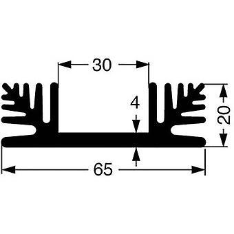 Fischer elektronik SK 48 100 SA køle vask 2,2 K/W (L x b x H) 100 x 65 x 20 mm