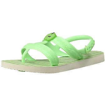 Havaianas Kids' Joy Spring Sandal White/Hydro Green