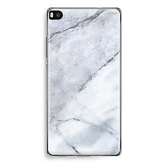 Huawei Ascend P8 trasparente custodia (Soft) - marmo bianco