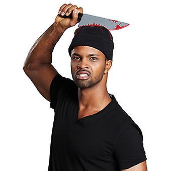 Halloween kapelusz z nożem