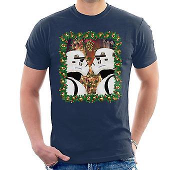 Oryginalna szturmowców Jemioła Boże Narodzenie męska koszulka