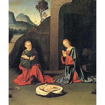 キリスト降誕、ジョヴァンニ・バッティスタ・オルトラノ、60x50 cm