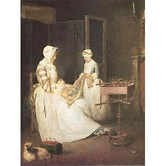 The Diligent Mother,Jean Baptiste Simeon Chardin