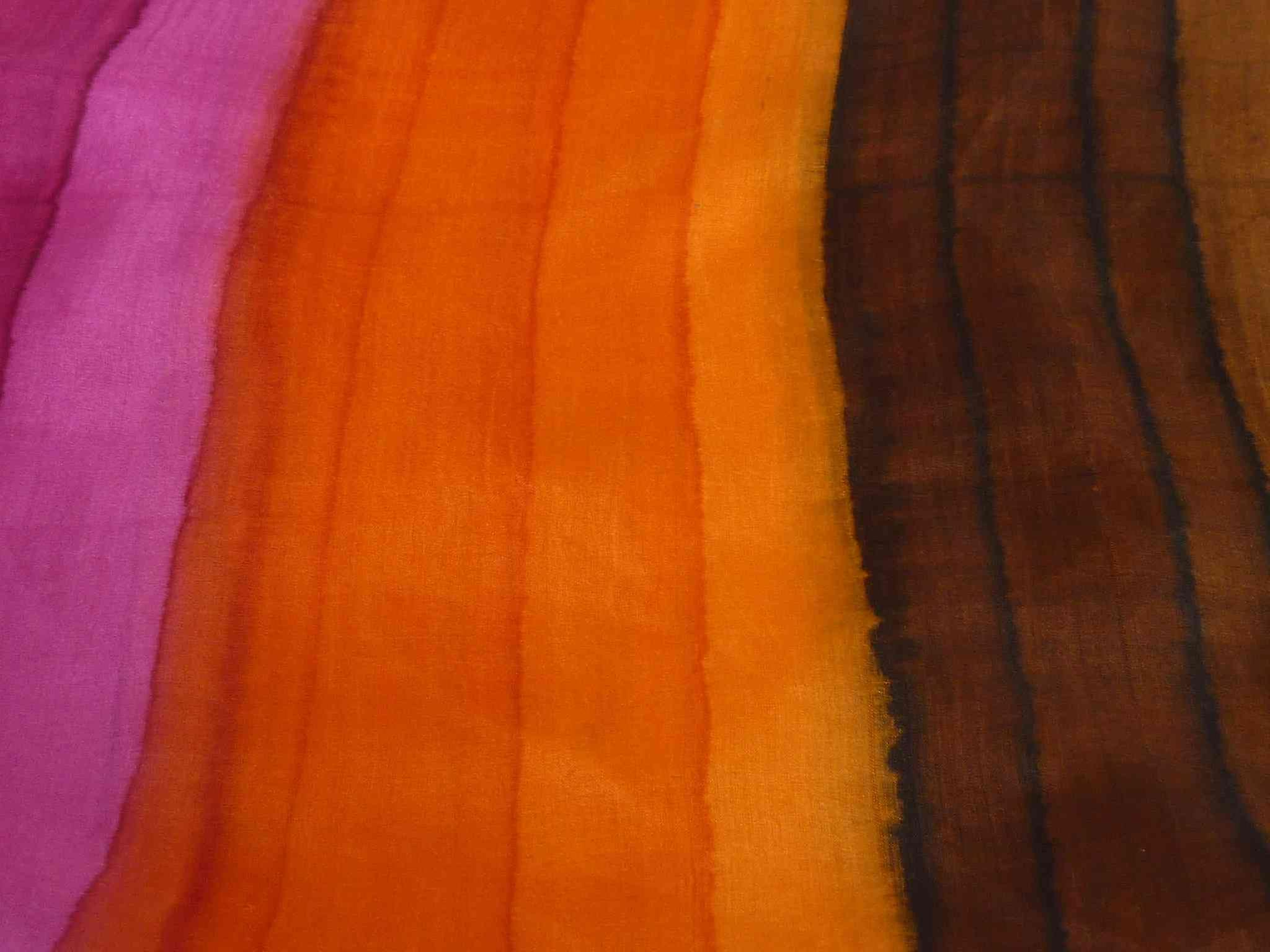 Mulberry Silk Hand Dyed Long Scarf Mukherjee Rainbow Palette from Pashmina & Silk