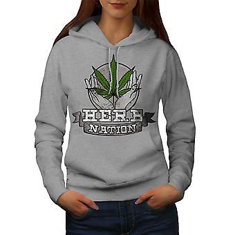 Nation Canabis 420 Naiset GreyHoodie | Wellcoda, mitä sinä olet?