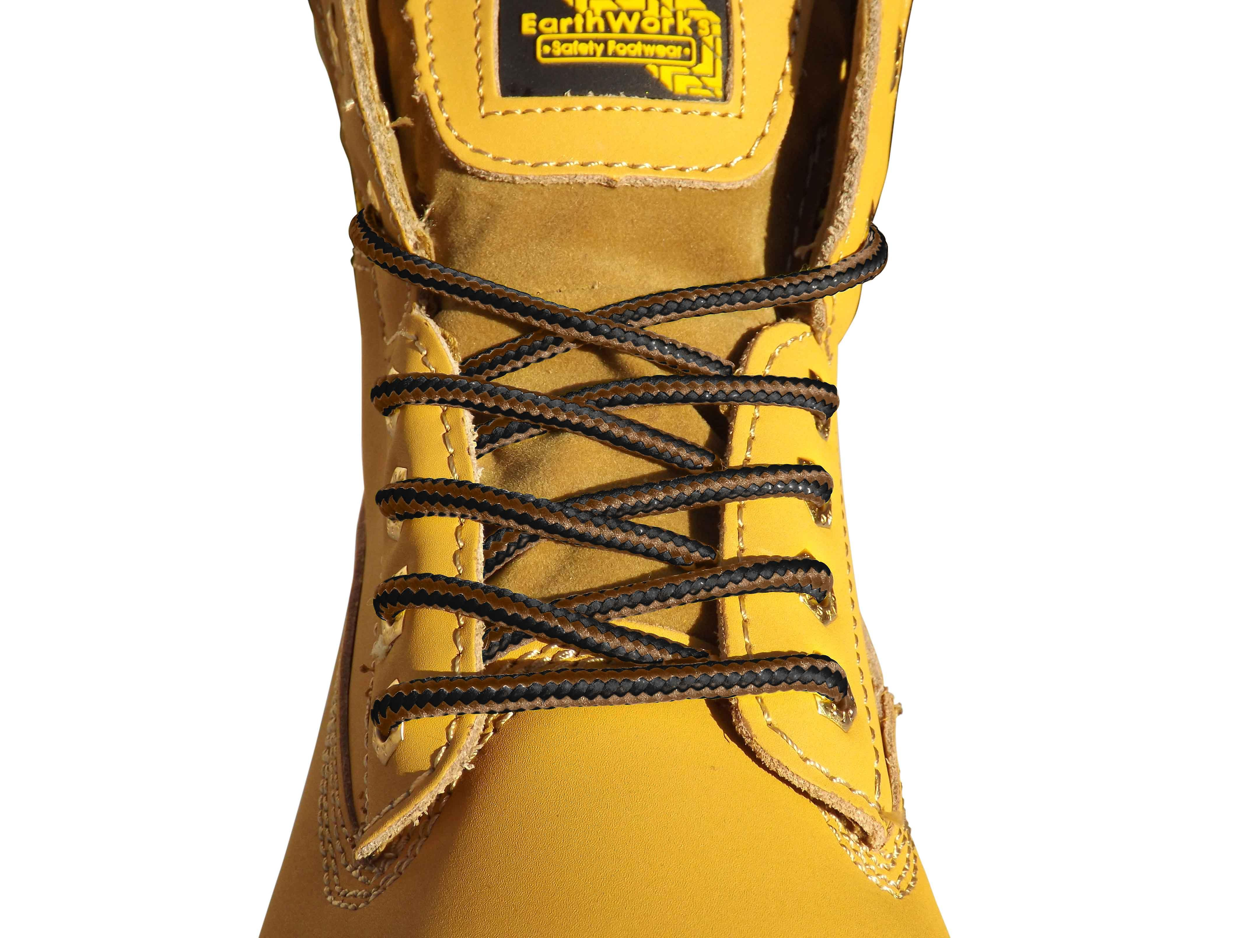 Brown & Black Hiking Boot Laces