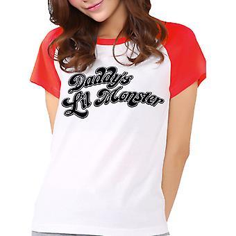 Suicide Squad-Daddys Little Monster T-Shirt, women