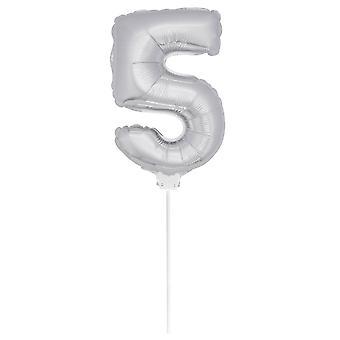 Folienballon Zahlenballon Zahl 5 luftaufblasbar 36 cm Ballon