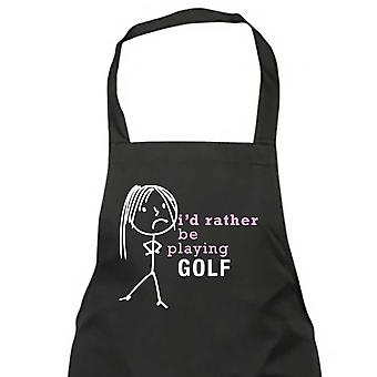 Ladies I'd Rather Be Playing Golf Apron