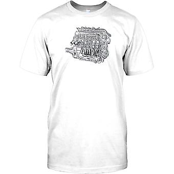 Maserati Grand Prix Motor - Retro-Design Kinder T Shirt