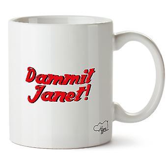 Hippowarehouse Dammit Janet Printed Mug Cup Ceramic 10oz