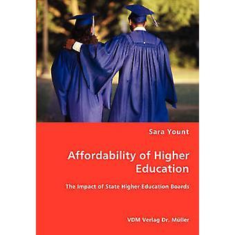 Asequibilidad de la educación superior el impacto de la educación superior estatal tableros de Yount y Sara