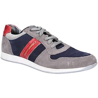Basis Londen Mens Eclipse Suede Lace Up Casual Trainers
