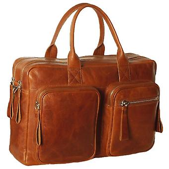 Ashwood Leather Kingsbury Oily Hunter Heavy Duty Double Zip Laptop Bag - Chestnut