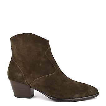 Ash Footwear Heidi Bis Military Suede Ankle Boot