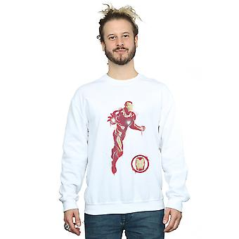 Marvel hommes Avengers Endgame peint Iron Man Sweatshirt