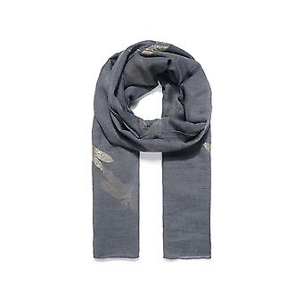 Intrigue Womens/Ladies Dragonfly Embroidered Scarf