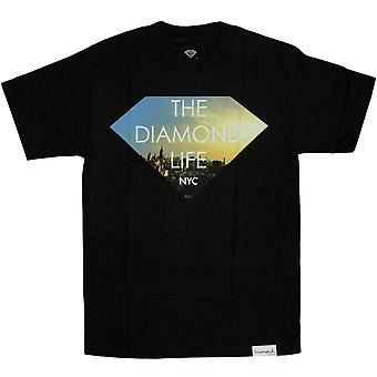 Diamond Supply Co Diamond Life NYC T-Shirt Black