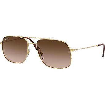 Ray-Ban 3595 rubber gold/Brown gradient dark brown