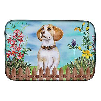 Carolines Treasures CK1248DDM Beagle kevät lautasen kuivaus matto