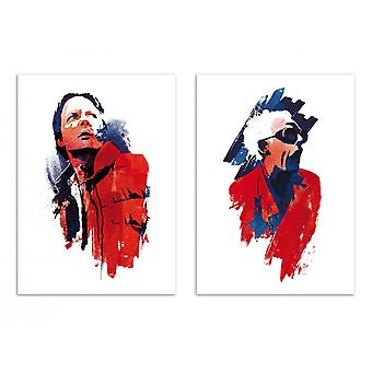 2 Kunst-Posters - Back to the Future - Robert Farkas