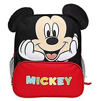 Backpack Disney Mickey Mouse Happy Face w/Red Pocket 12