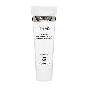 REN Flash skölj 1 minut Facial 75ml