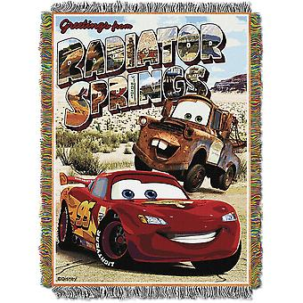 Tapestry Throw - Disney - Cars Greeting Radiator Springs Woven Blanket 252431