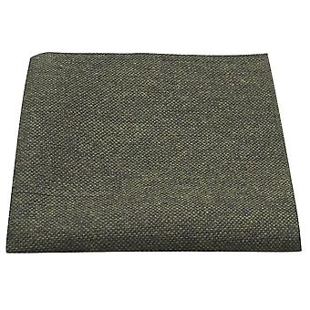 Highland Weave Forest Green Pocket Square, Handkerchief