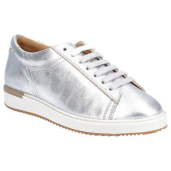 Hush Welpen Damen Sabine BouncePLUS Lace Up Trainer Silber Metallic Leder