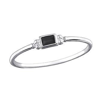 Square - 925 Sterling Silver Plain Rings - W32466X