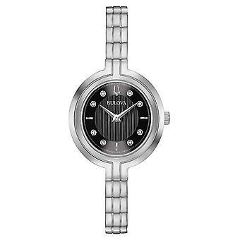 Bulova | Rhapsody | Womens | Steel Bracelet | Black Dial | 96P215 Watch