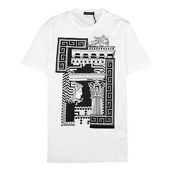 Versace Medusa Säule T-shirt weiß/Silber
