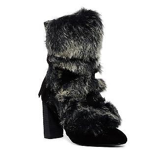 Charles by Charles David Womens Alberta Faux Fur Almond Toe Mid-Calf Fashion ...