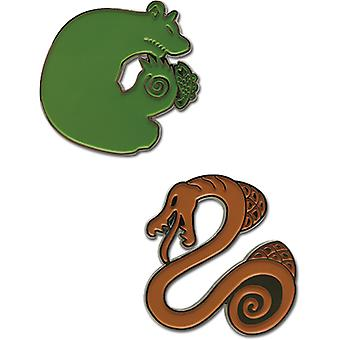 Pin Set - Seven Deadly Sins - Grizzly's Sin of Sloth & Serpent's Sin of Envy ge50679