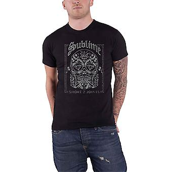 Sublime T Shirt Smoke 2 Joints Band Logo new Official Mens Black