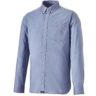 Dickies mens Premium lange mouw op maat katoenen shirt