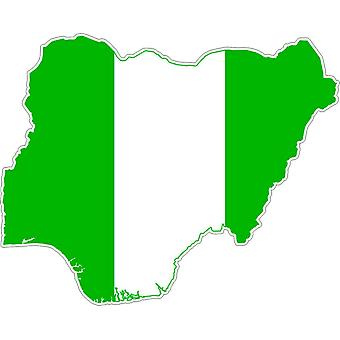 Sticker Sticker Adhesif Car Vinyl Flag Map Nigeria