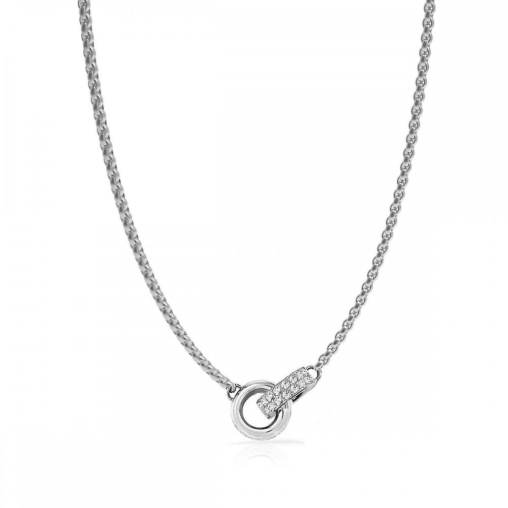Guess Jewellery Guess 16-18 Inch Small Embracing Rings Necklace UBN78055