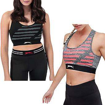 Slazenger Womens Maxi Gym Fitness Crossover Running Training Crop Top Sports Bra