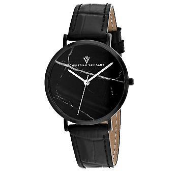 Christian Van Sant Women's Lotus Black Dial Watch - CV0424