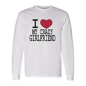 "Men's Funny ""I Love My Crazy Girlfriend"" T-Shirt"