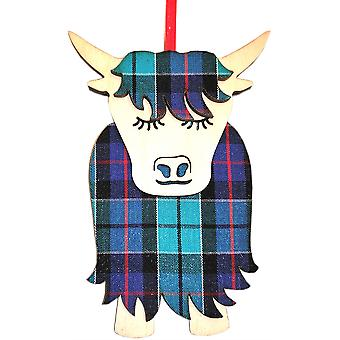 Morag Highland Cow Highland Check par Art Cuts