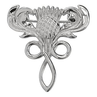 Scottish Thistle Flower Of Scotland Pin Clasp Garment Clothes Fibulae Brooch