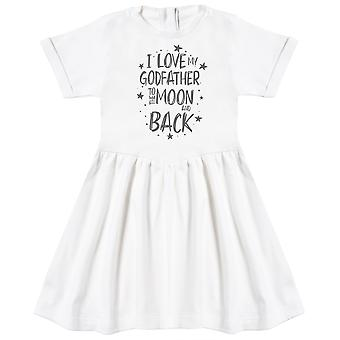 I Love My GodFather To The Moon And Back Baby Dress