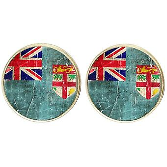 Bassin and Brown Union and St George Faded Flag Cufflinks - Red/White/Blue