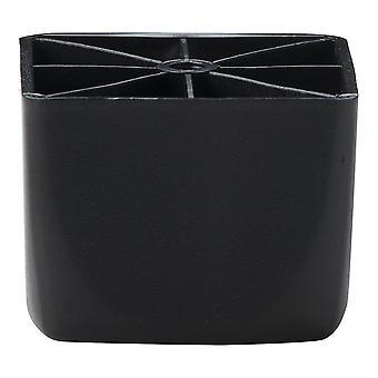 Schwarze Kunststoff Quadrate Möbel Bein 5,5 cm (4 Stück)