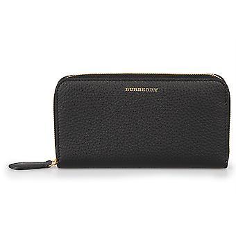 Burberry Elmore Londýn čierna hladká koža zips okolo peňaženky